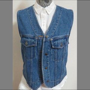 Sz S Blue Jean Denim Eddie Bauer Womens #72Y Vest